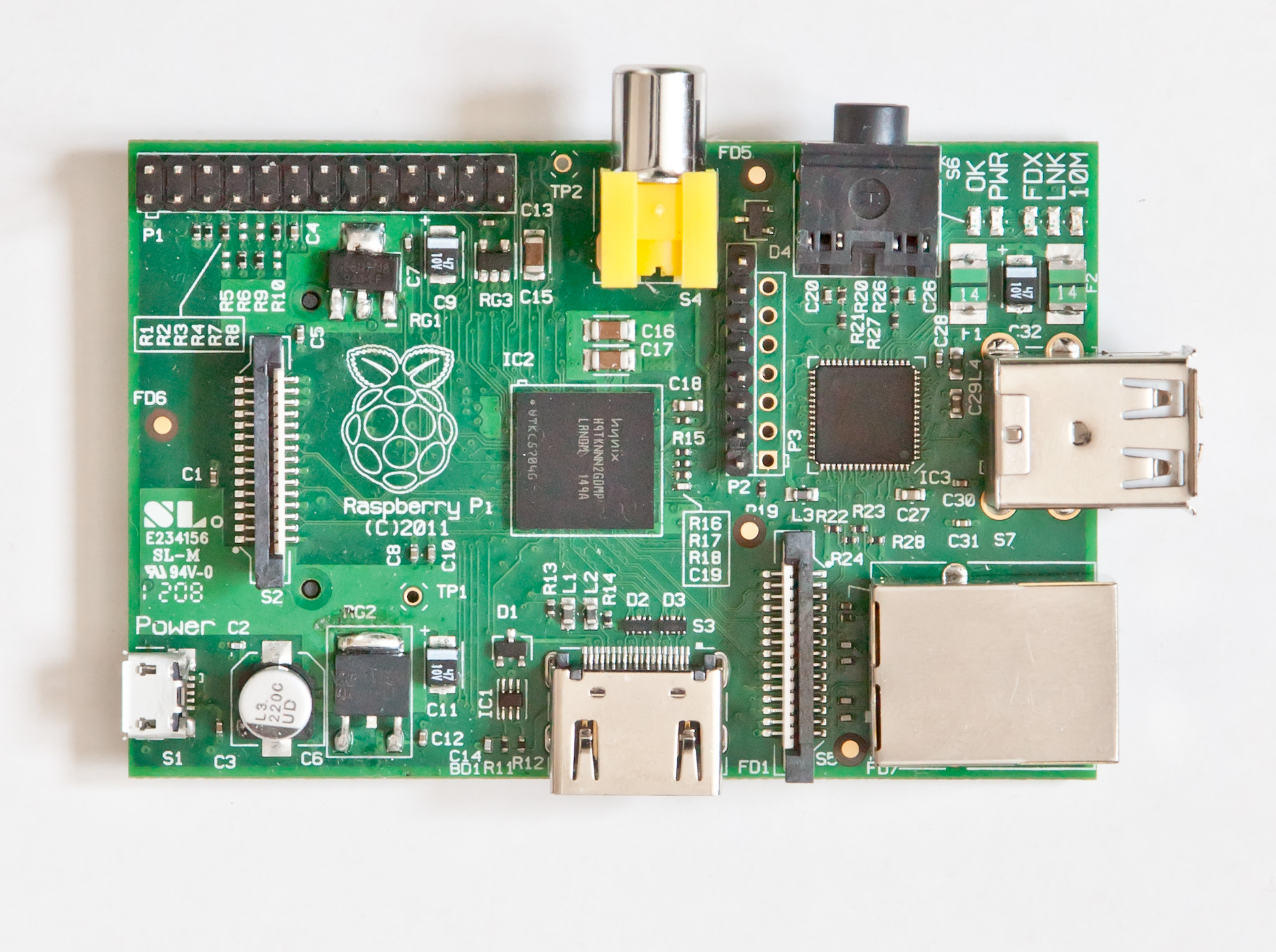 Top of Raspberry Pi