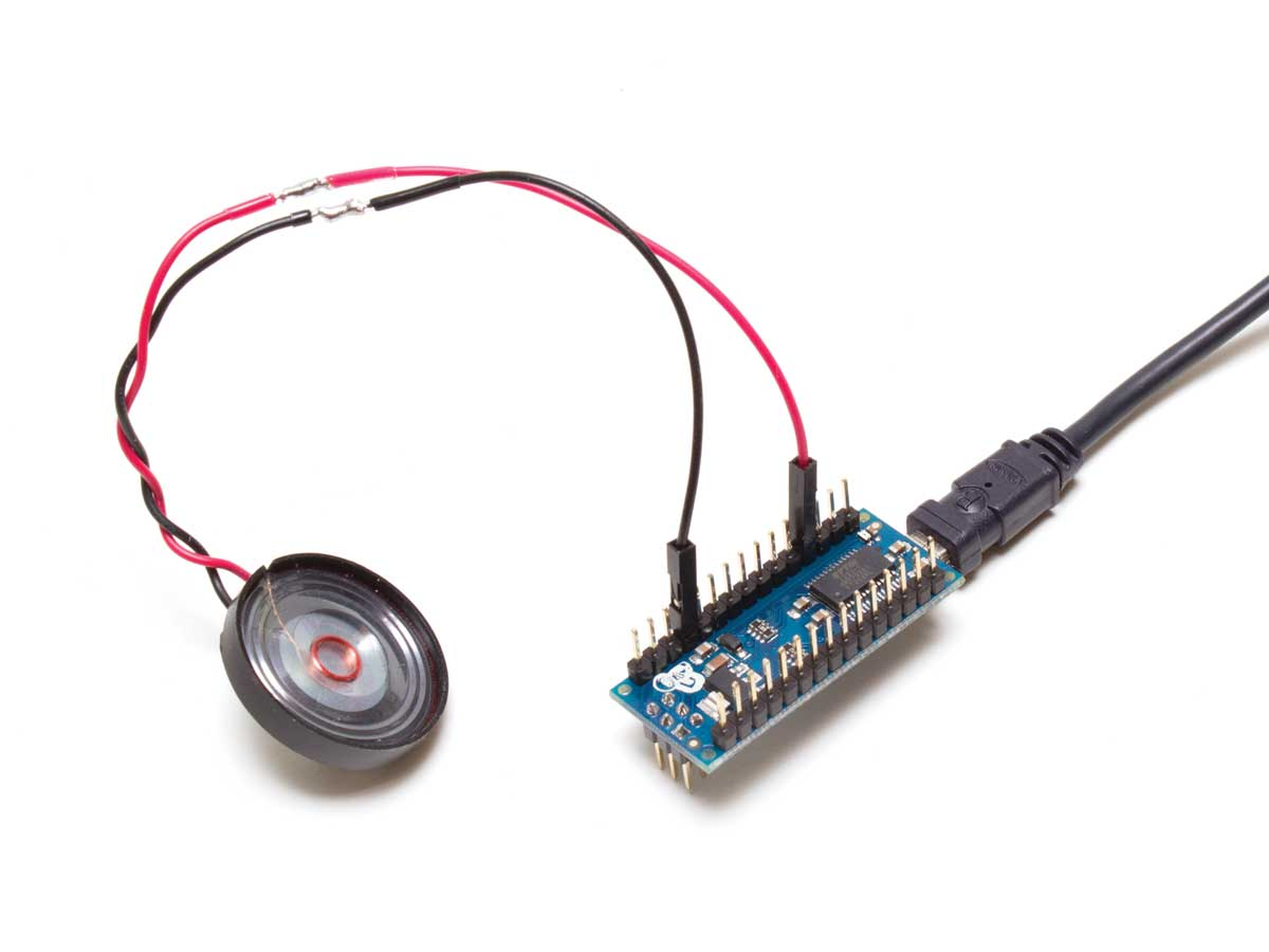 Skill Builder Advanced Arduino Sound Synthesis Make Effects Generator 2 Circuit Figure B