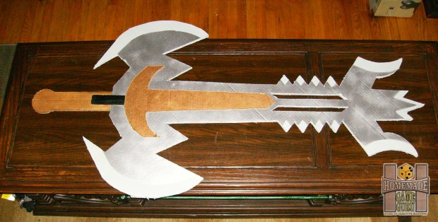 Cardboard Gargantuan Sword of Death and Destruction