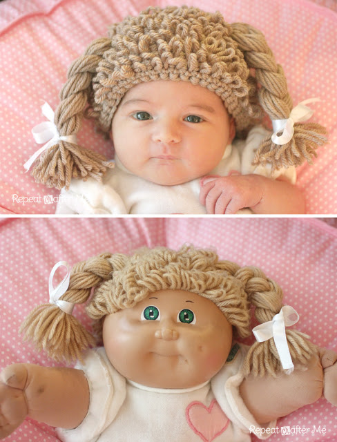 How To Crocheted Cabbage Patch Doll Hat Make
