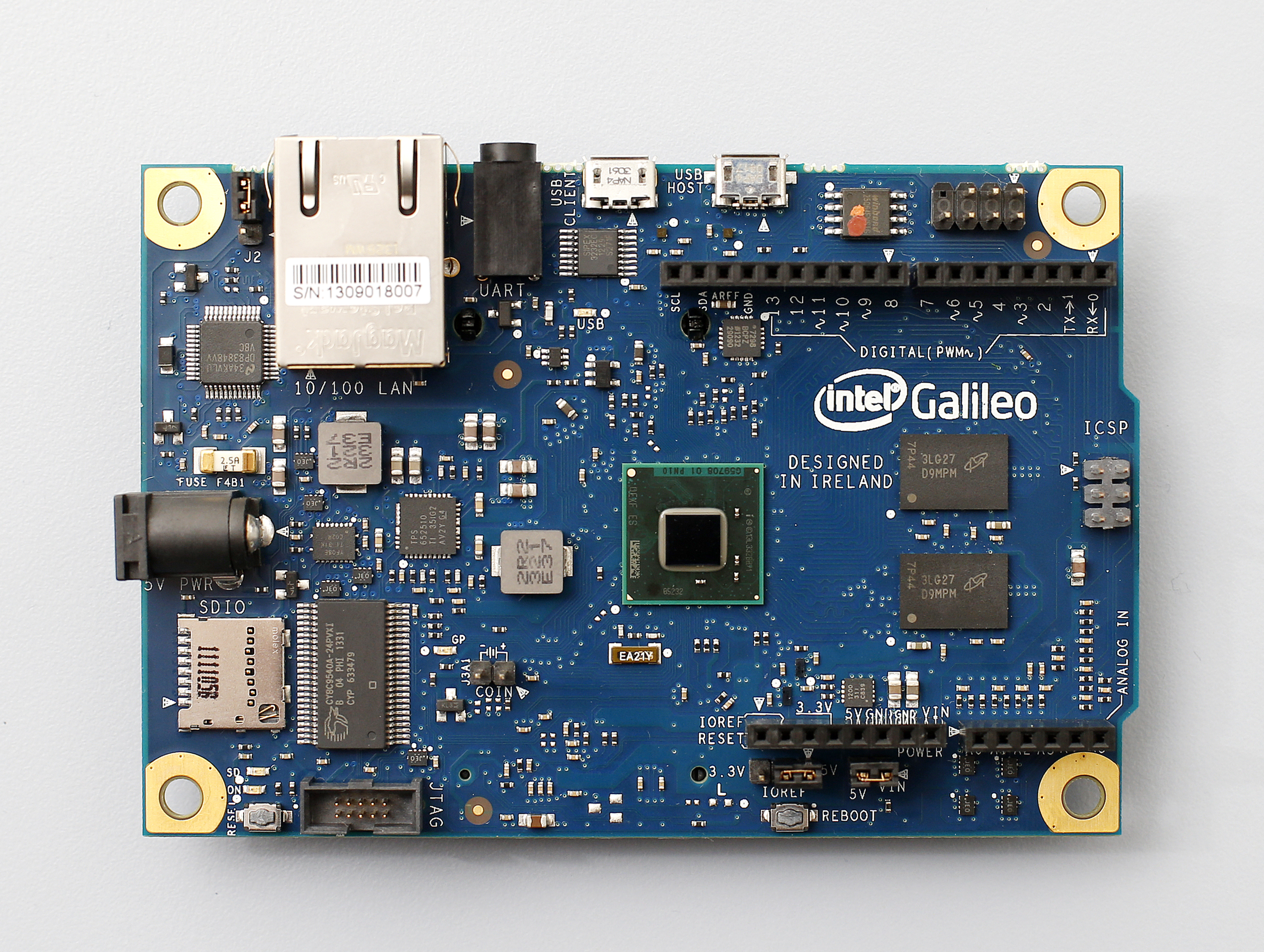The Galileo board from Intel and Arduino