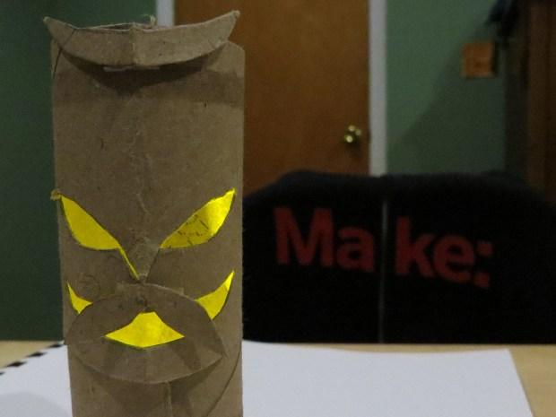 Horned Mustachioed Halloween Tiki God