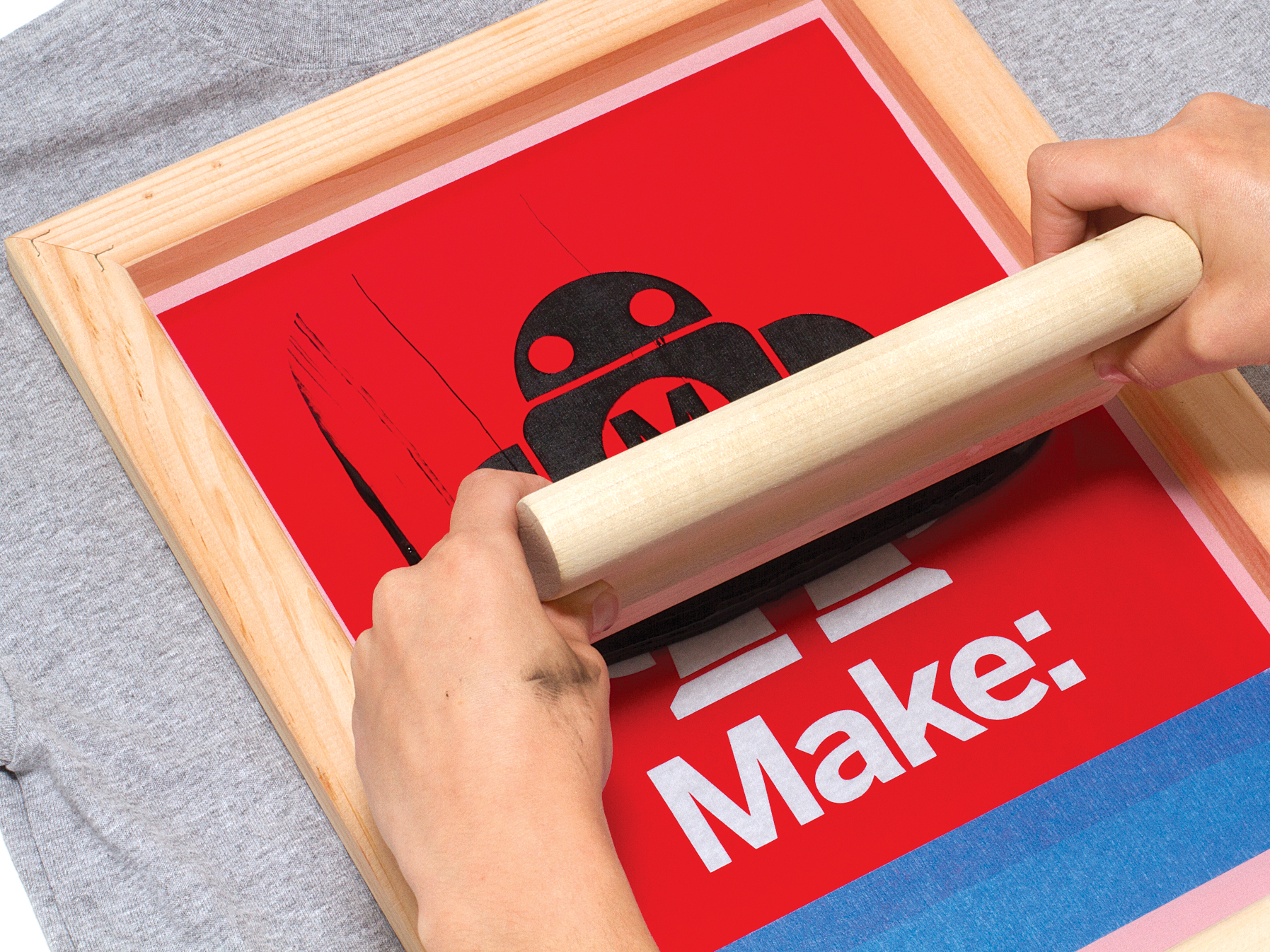 Silk Screen Screens : Simple silk screen printing using a vinyl cutter make