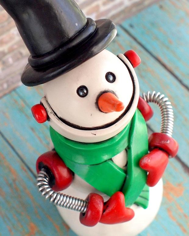 Commission: Large Snowbot Snowman