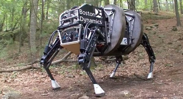 A rough-terrain robot from Boston Dynamics.