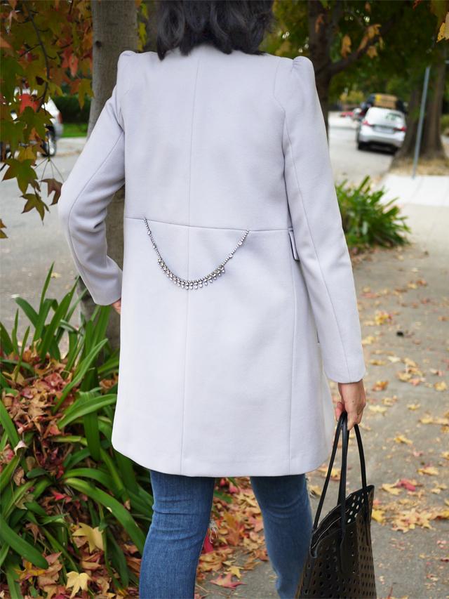crystal belted coat