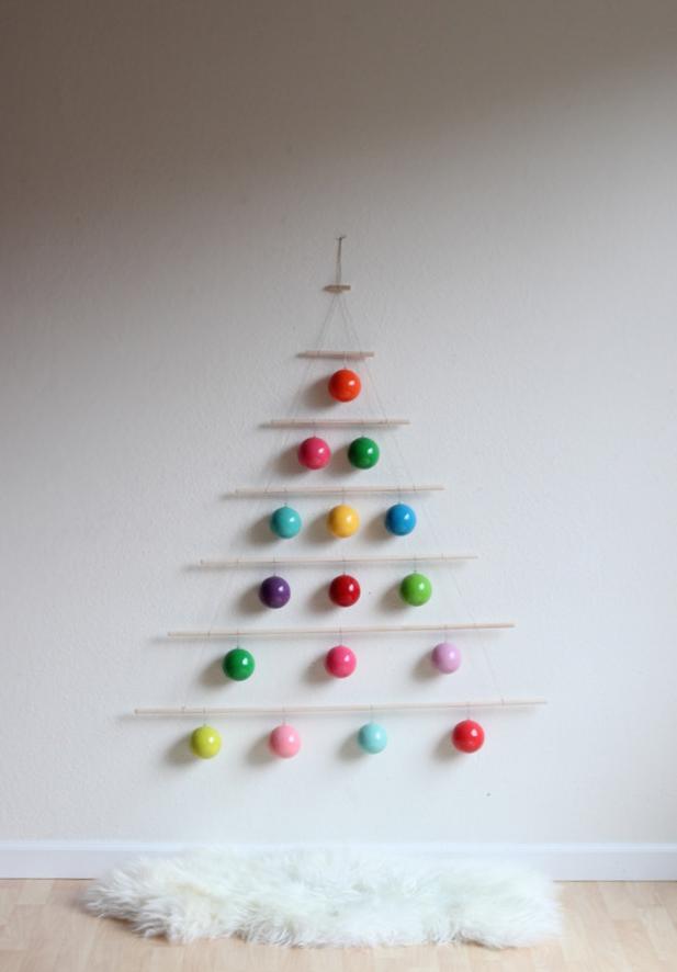 DIY Dowel Christmas Tree Make