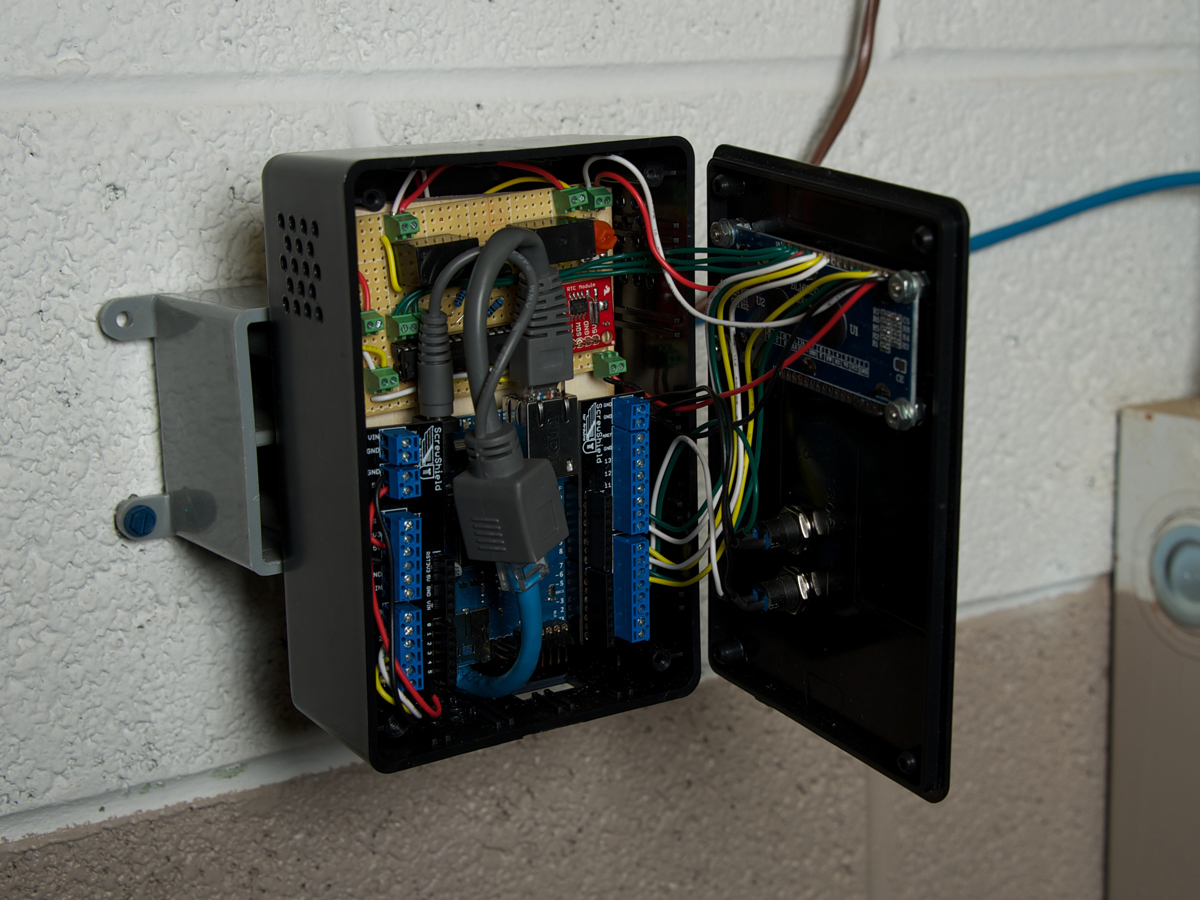Networked Smart Thermostat Make Digital Circuit Board Wiring Diagram At My Hackerspace I3 Detroit We Have Programmable Thermostats That Frustratingly Reset Your Settings Fixed Times Home Our Old Just