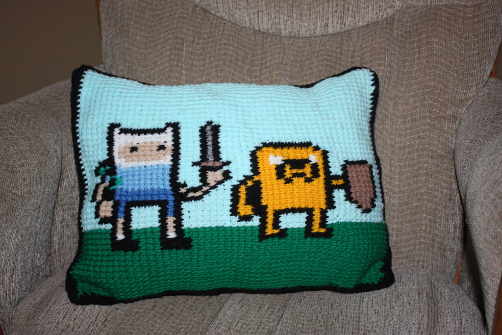 adventure_time_crochet_pillow