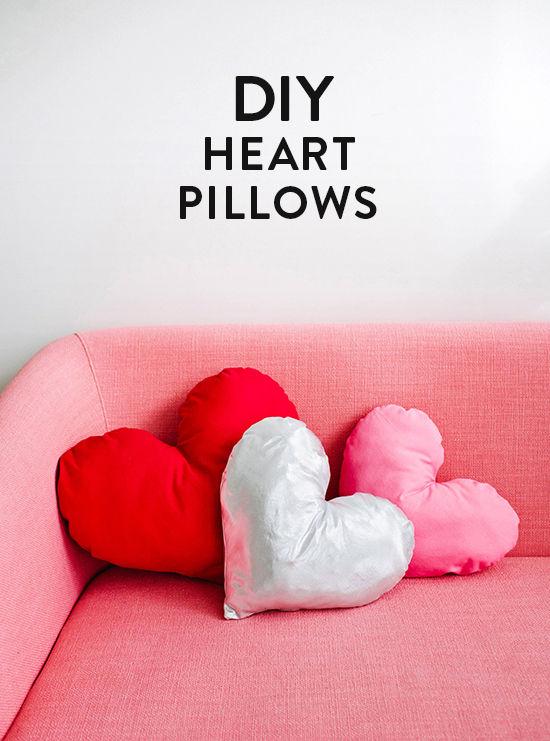 Super Simple Heart Pillows