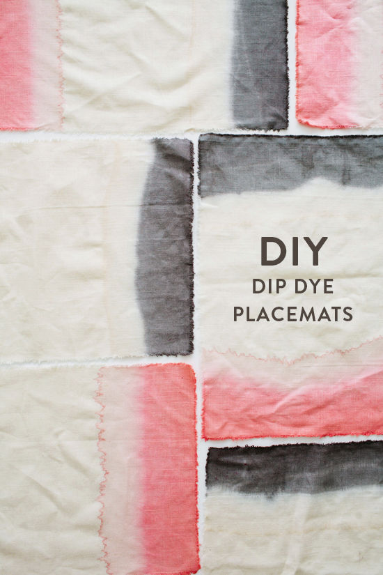 dip dye place mats
