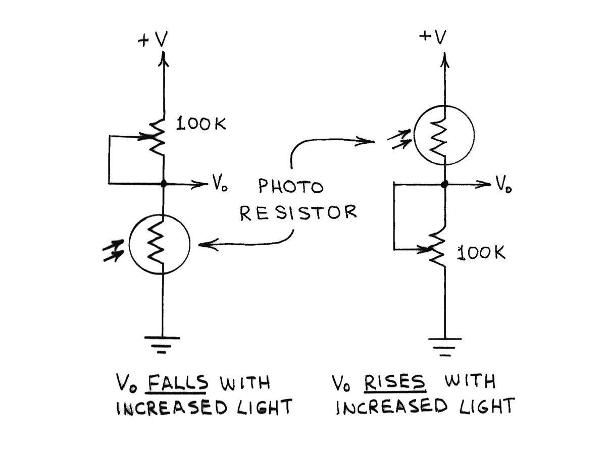 Amateur Scientist Experimenting With Light And Dark Sensors Make Transimpedance Amplifier Circuit Diagram Electronic Circuits Figure A