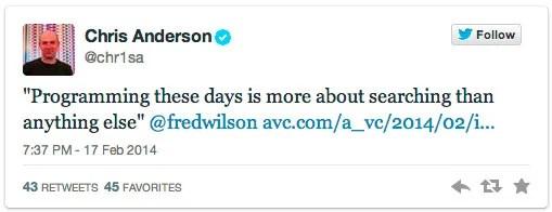 Chris Anderson Tweets