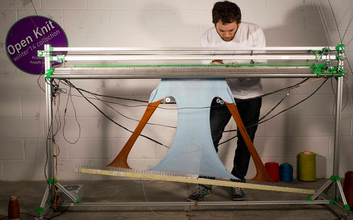 OpenKnit: An Open Source Knitting Machine