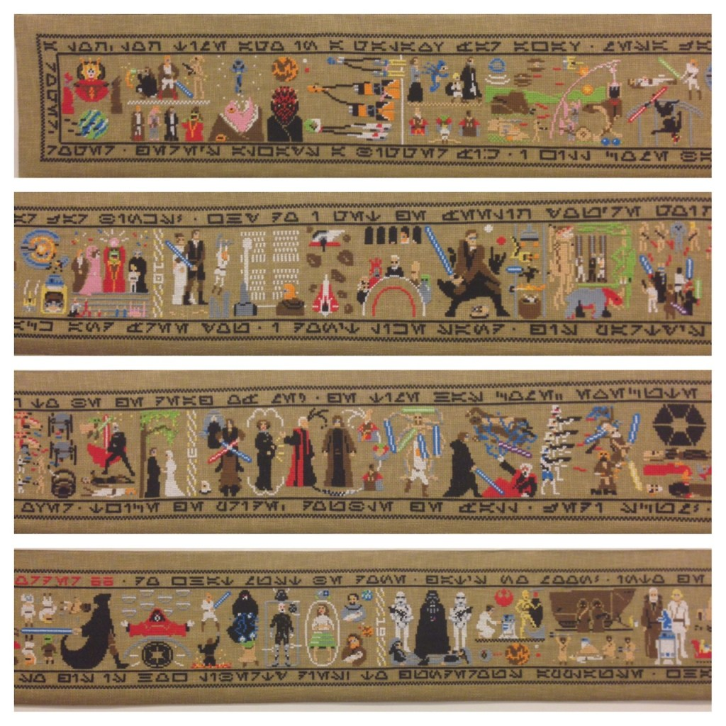 The Entire Star Wars Saga Cross-Stitched By Hand | Make: