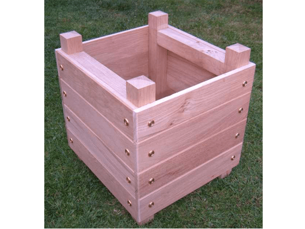 How to Make a Simple Chunky Wooden Planter