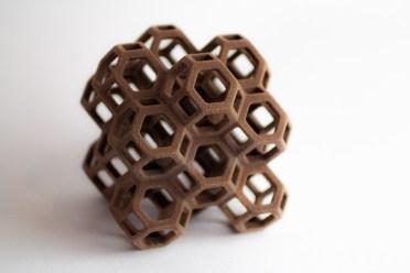 Chocolate-flavored hexagons
