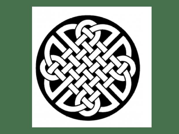 Solid Oak Celtic Braid Beer Coaster