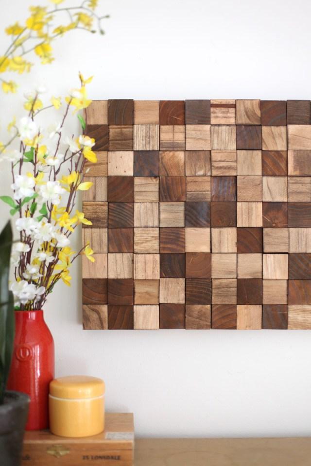 wooden block mosaic