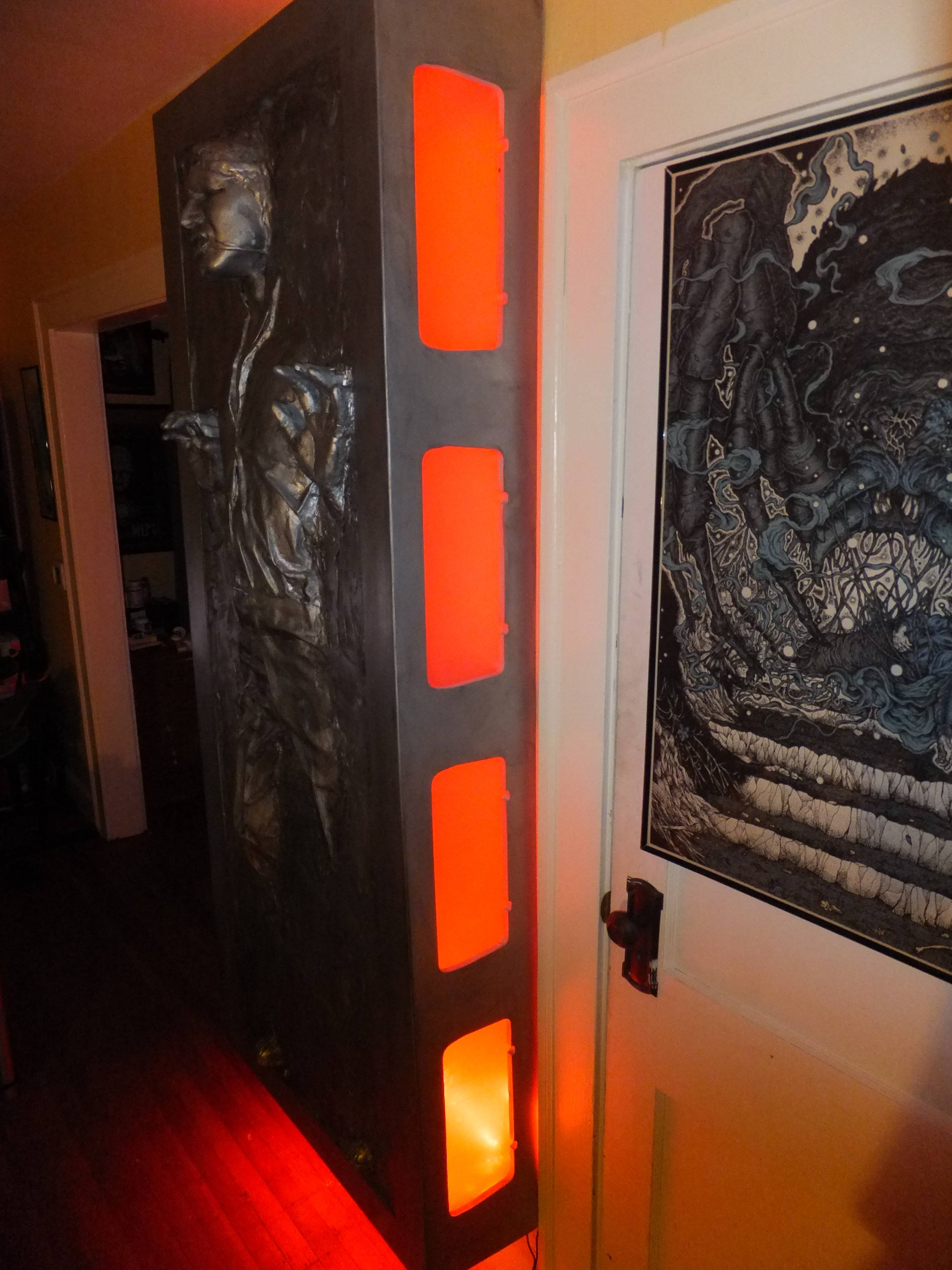 Assembling a Full Sized Han Solo in Carbonite | Make: