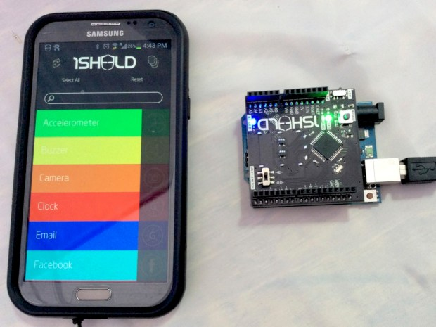 1Sheeld allows for rapid Arduino prototyping by leveraging your Android device.