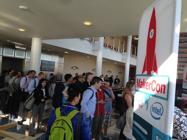The crowd gathers at MakerCon