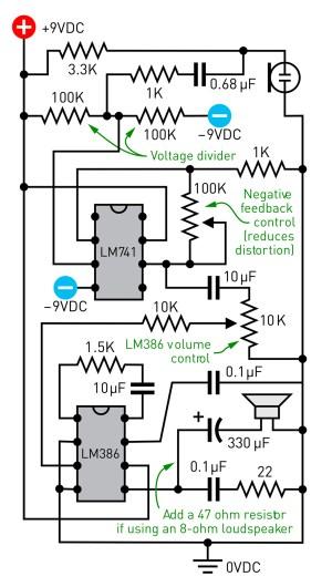 An audio amplifier circuit.