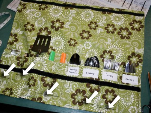 DIY Camping Silverware Holder