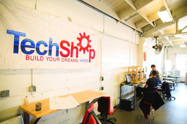 1. At TechShop San Francisco, 3D printers are housed on a quiet top level.