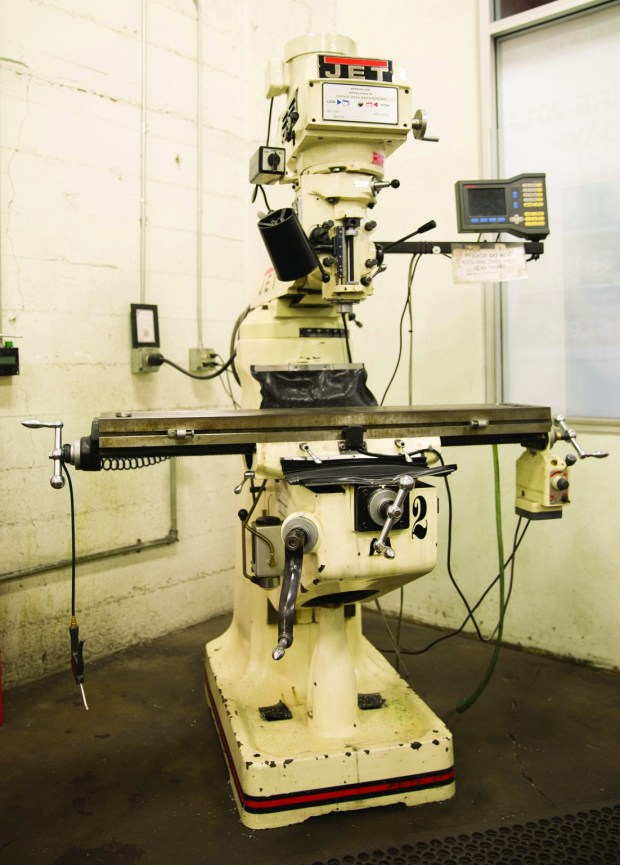 "9. The Jet variable speed, 3-horsepower vertical milling machine, equipped with a digital display, allows TechShop members to adjust the tool without using the mechanical dials. ""This would be a dream machine to have in your own home,"" says Newton."