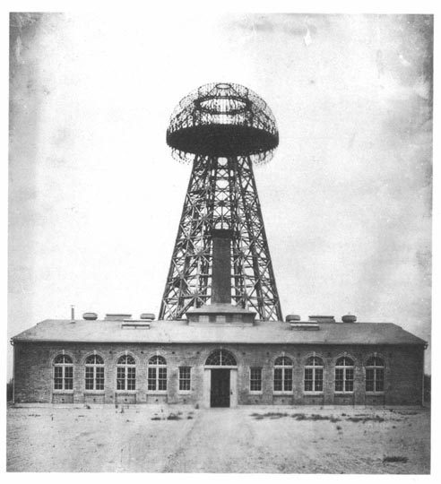Wardenclyffe Tower at the start of the 20th century.