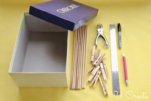 A Supply List for foosball box