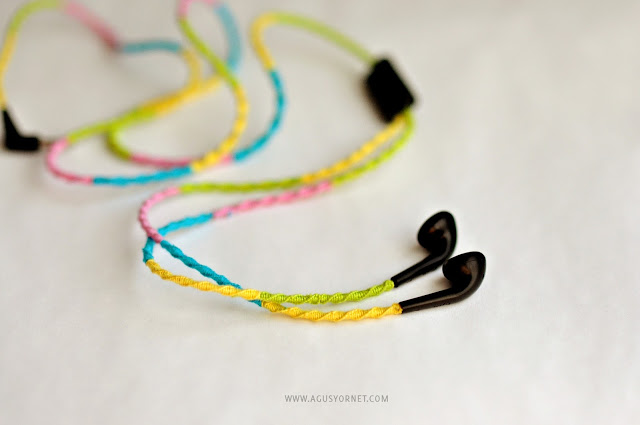 Spiral Knot Wrapped Headphones