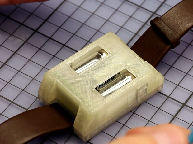 Johannes' Numitron GeekWatch features Numitron tubes housed in a hideous 3D printed case