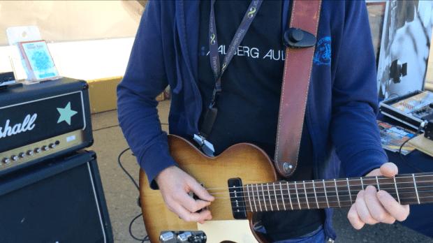 Rune wirelessly rocking Maker Faire Trondheim