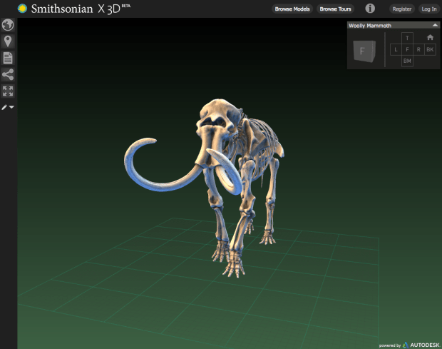 The Smithsonian has an interactive model viewer integrated into the site.