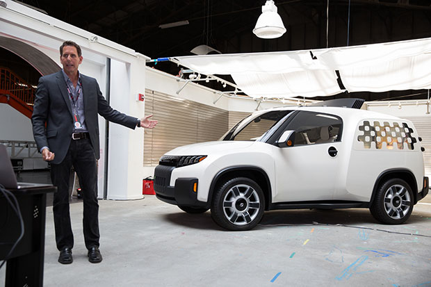 Toyota's Kevin Hunter introduces the Urban Utility concept vehicle