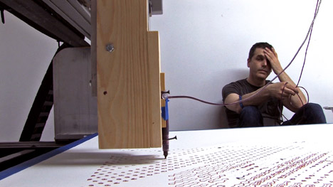 Artist Hacks CNC Machine To Create Self-Portrait Using His Blood