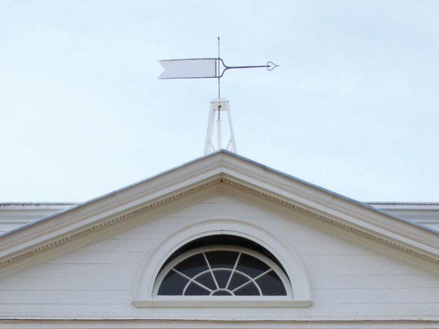 The wind vane over the front portico of Monticello.