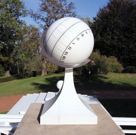 A replica of Jefferson's spherical sundial.