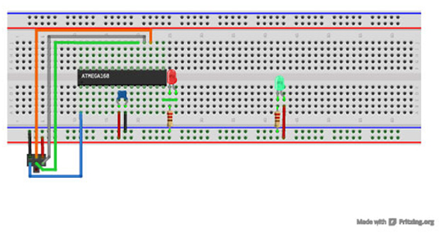 Note: If you use a different ISP or AVR chip, you'll need to adjust the Makefile.