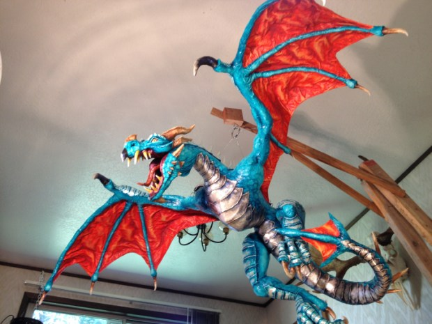Paper Mache Dragon Sculpture Make