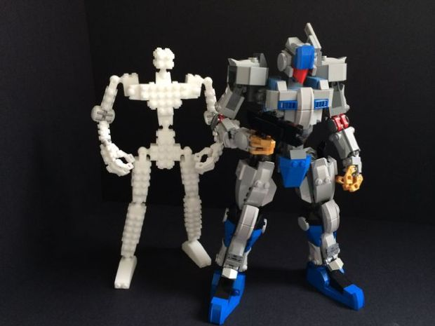 3D Printed Lego Action Figure Rig