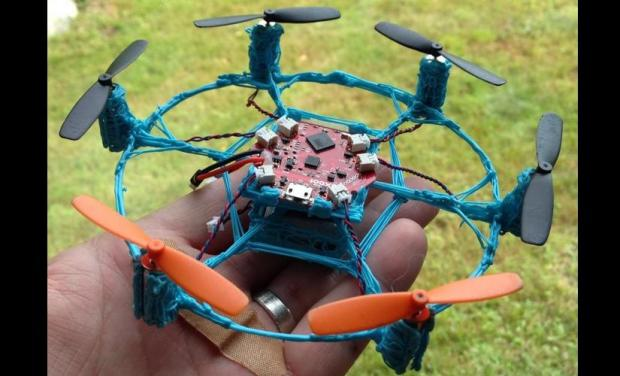 Version 2 of Louis' hexacopter drone features a more stable design to maintain flight.