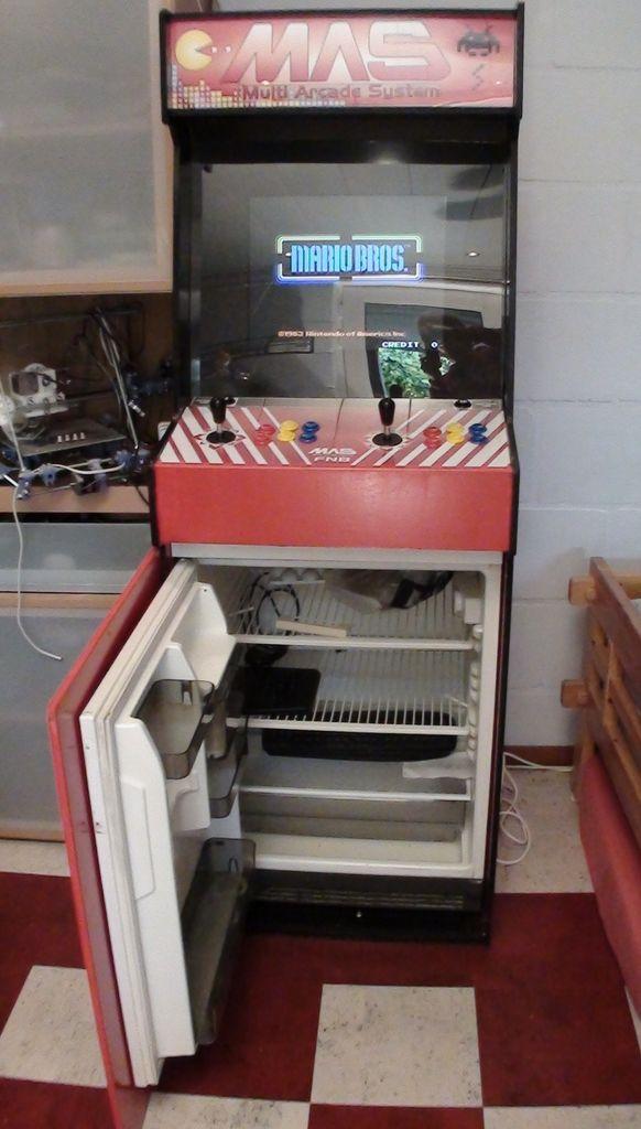 ExperiMendelu0027s Multi Arcade System Combines Retro Gaming With A Mini Fridge