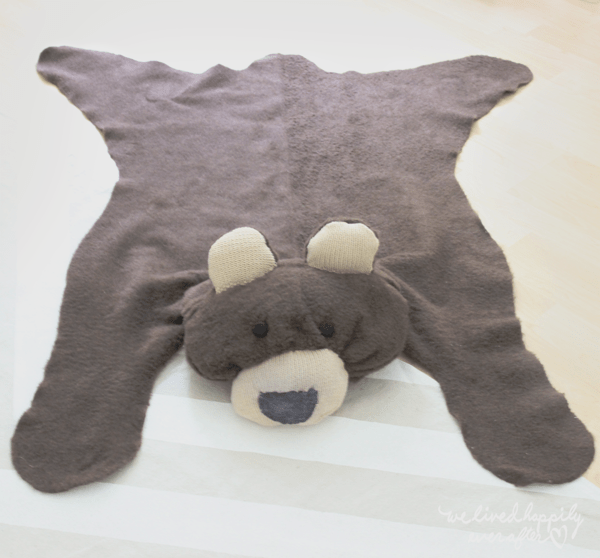 diy faux bear skin rug make. Black Bedroom Furniture Sets. Home Design Ideas