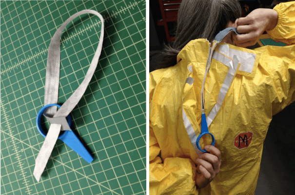 Zipper tabs used to make unzipping easy and safe