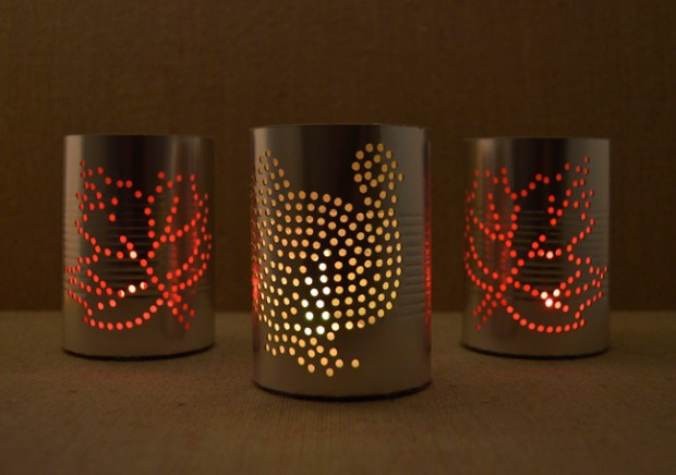 Faux-Hammered-Tin-Luminaries-by-Annie-Williams-Glowing
