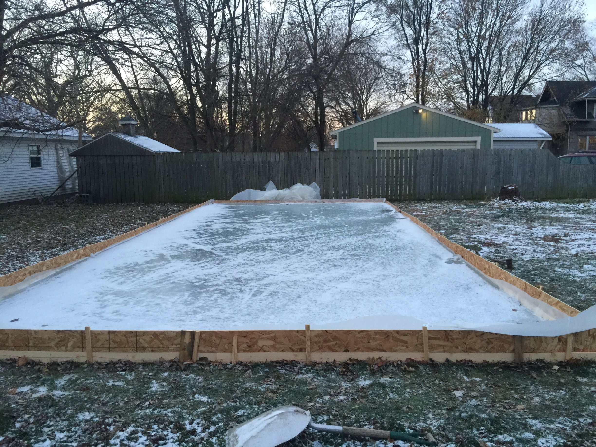 How To Make An Ice Skating Rink In Your Backyard diy backyard ice rink | make: