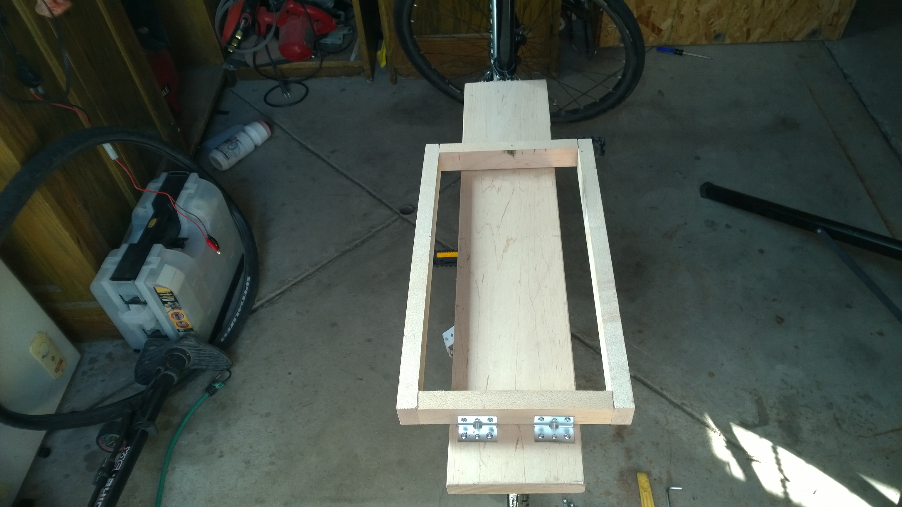 How I Built My First Electric Bike Make Ideas To Hide Fuse Box Battery Holder The Top Plate Supports Weight While Rectangle Keeps In Position